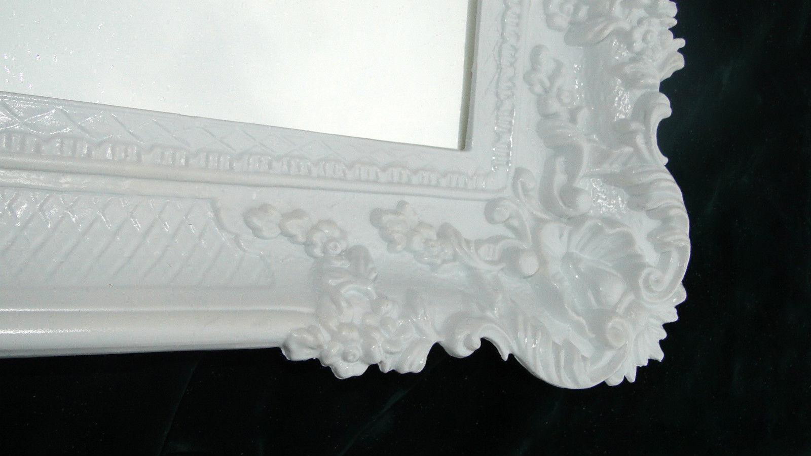 wandspiegel barock spiegel antik 97x57 badspiegel weiss hochglanz reg 3074 1 kaufen bei. Black Bedroom Furniture Sets. Home Design Ideas