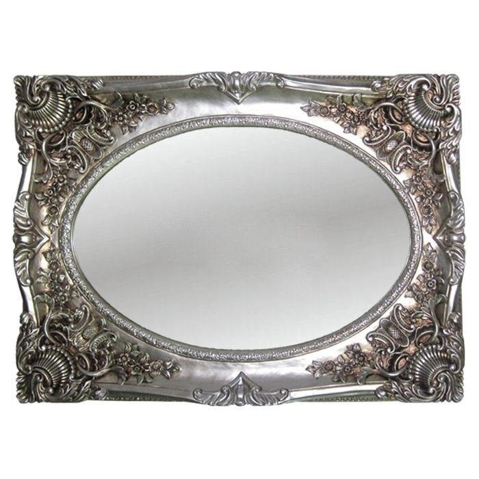 Wandspiegel antik silber 118x88 barock oval spiegel flur friseurspiegel rahmen kaufen bei - Spiegel oval silber ...