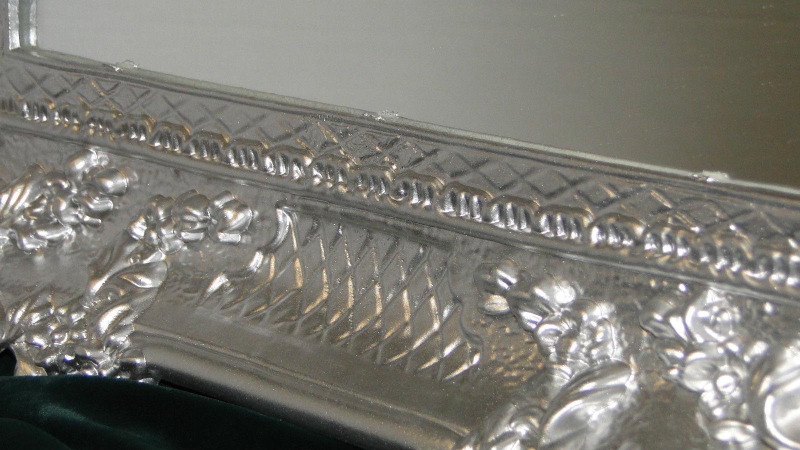 wandspiegel barock gro er spiegel silber hochglanz 97x57. Black Bedroom Furniture Sets. Home Design Ideas