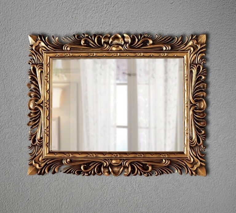gro er barock wandspiegel ornament 120x90 standspiegel spiegel gold flurspiegel kaufen bei. Black Bedroom Furniture Sets. Home Design Ideas