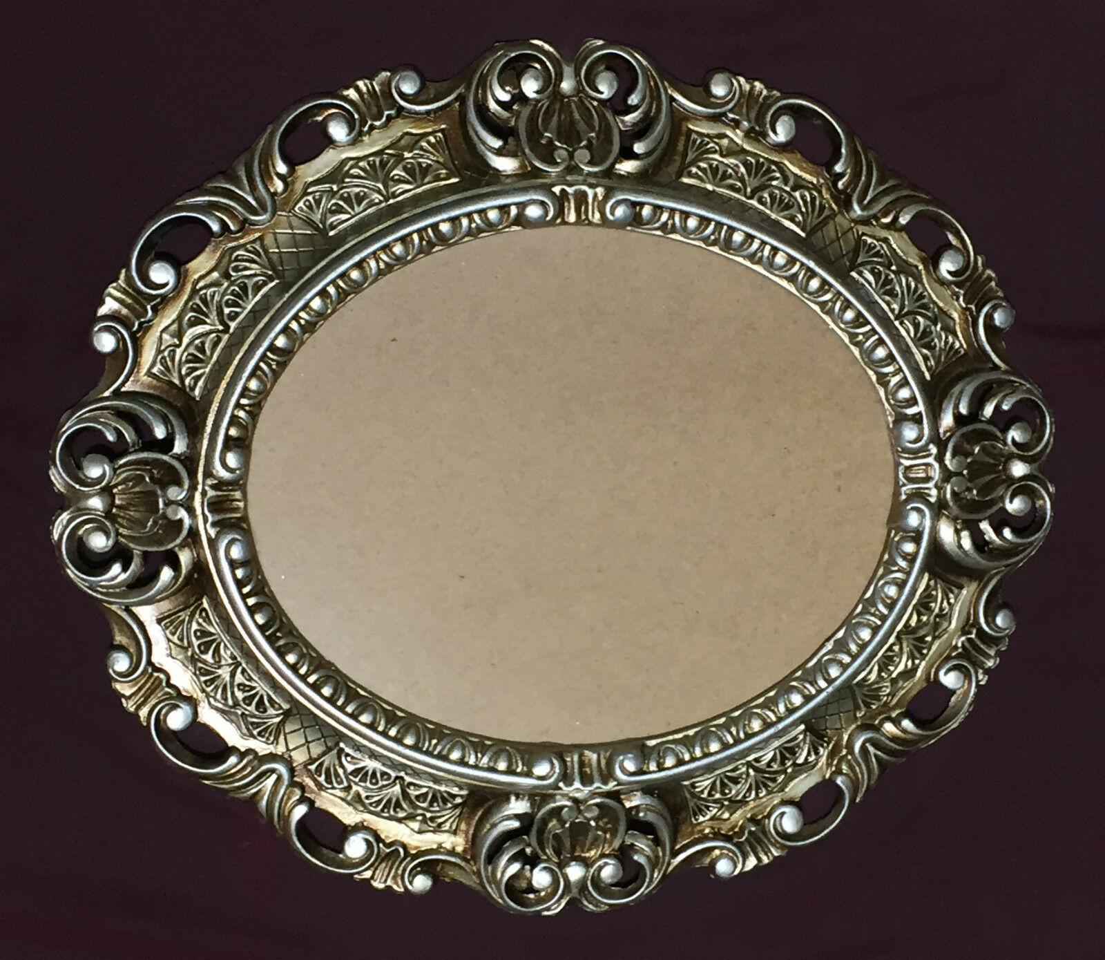 Bilderrahmen Barock Silber Oval 45X37 Fotorahmen Antik Bilderrahmen mit Glas
