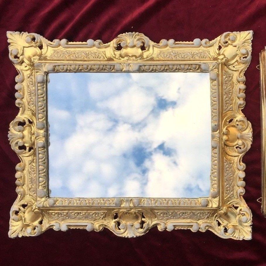 Bilderrahmen Gold-Weiss mit Glas Rechteckig 45x37 Fotorahmen ...