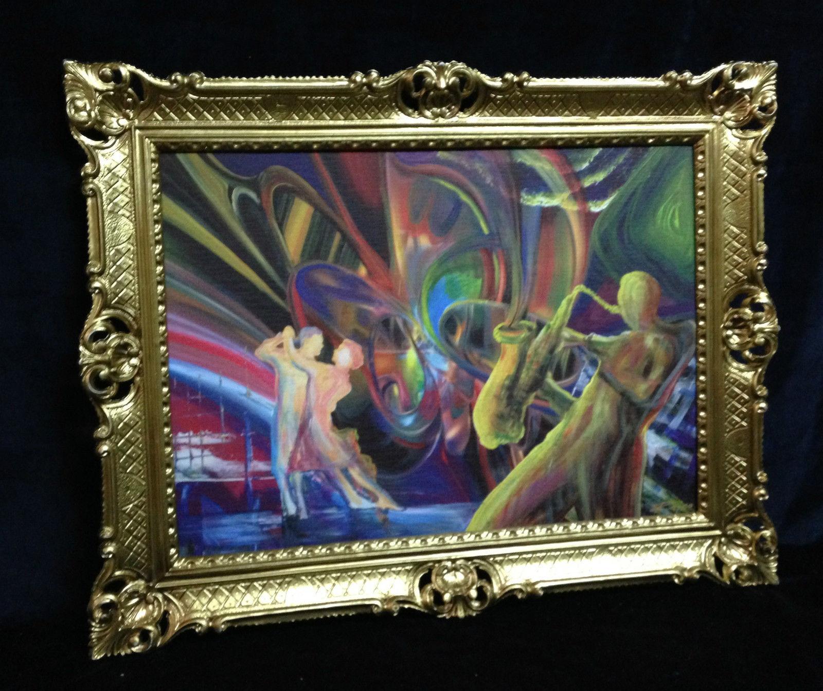 Tango Paradies Jazz Bild Romantik Gemälde mit Rahmen 90x70cm Bar ...