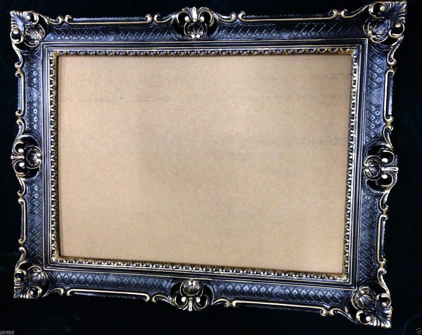Bilderrahmen Antik Schwarz Gold hochzeitsrahmen Menü Tafel Großer Bilderrahmen Ramy