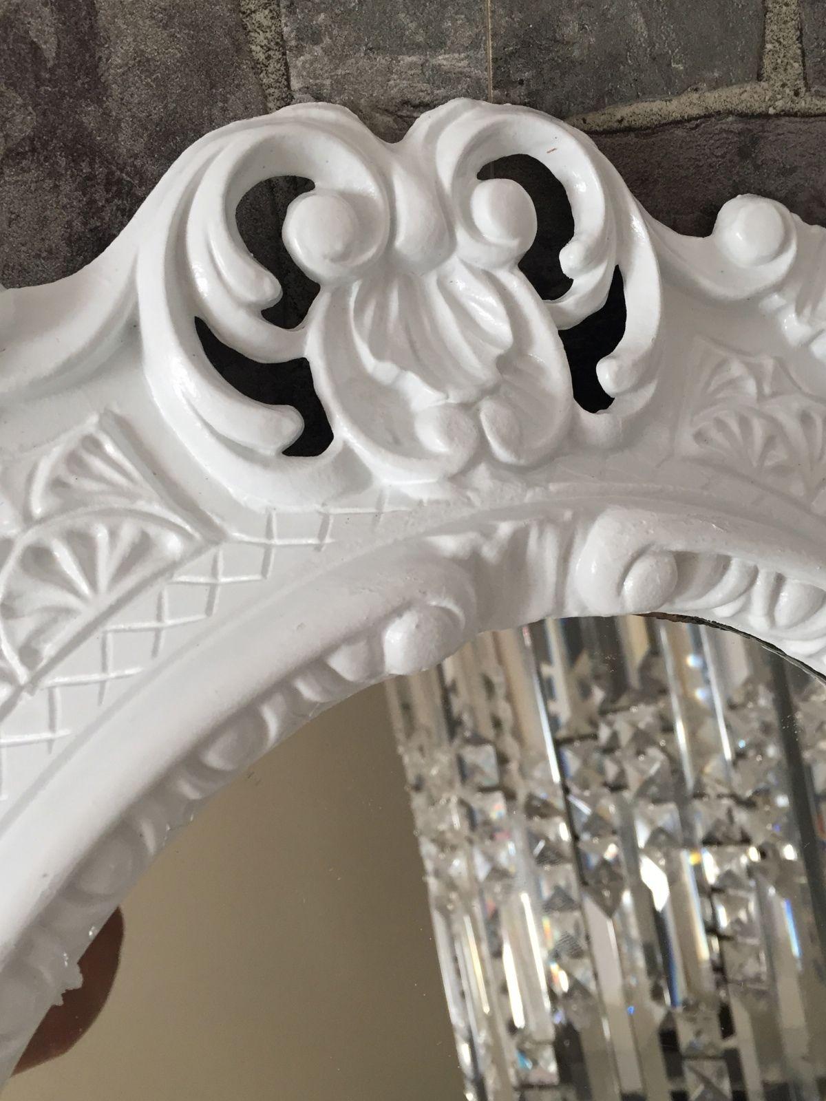 wandspiegel wei barock oval spiegel antik 45x38 bad flur kosmetikspiegel rahmen kaufen bei. Black Bedroom Furniture Sets. Home Design Ideas