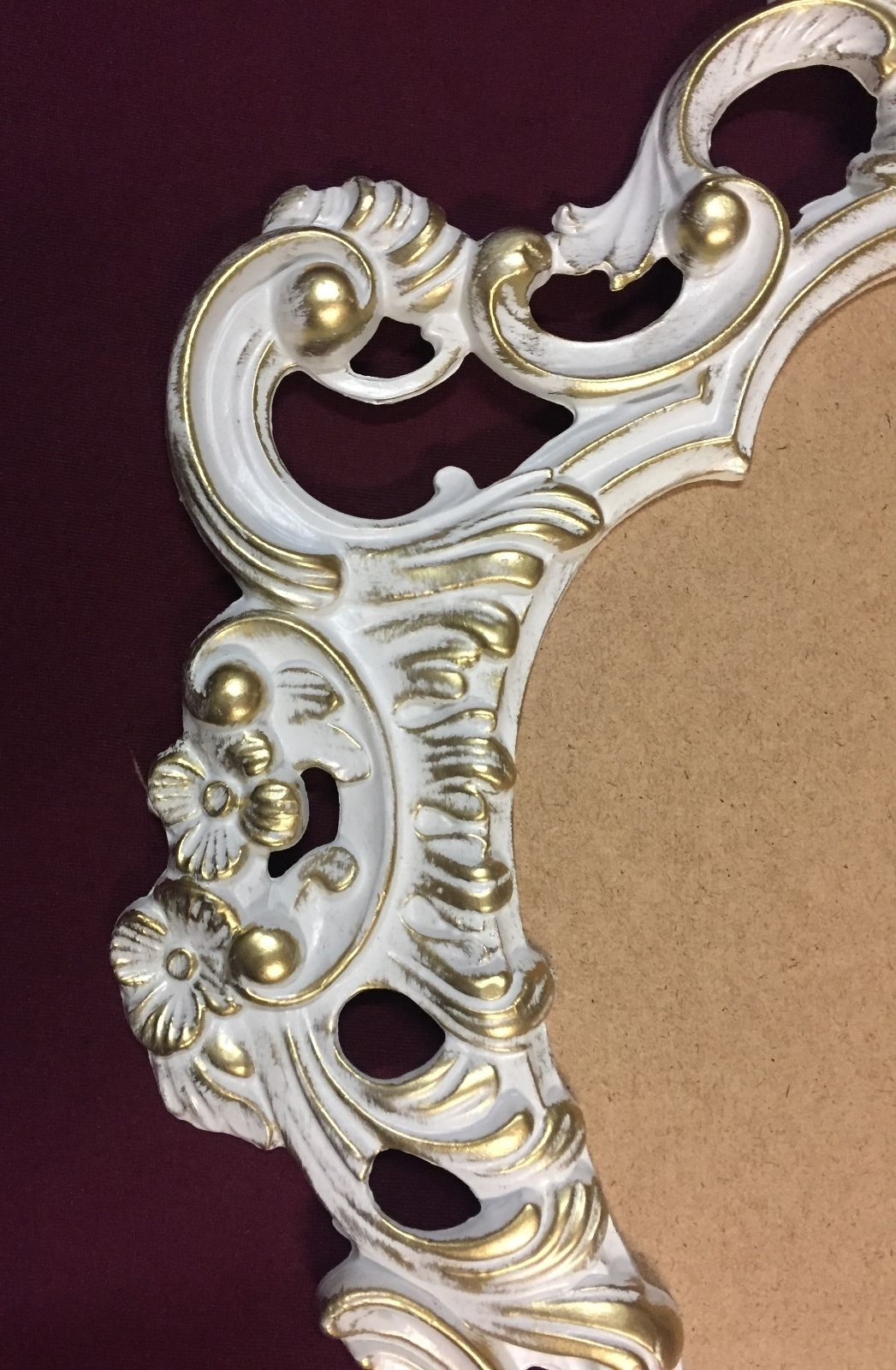 Wandspiegel Oval Vintage BadSpiegel Antik weiß-Gold 50X76 BAROCK ...