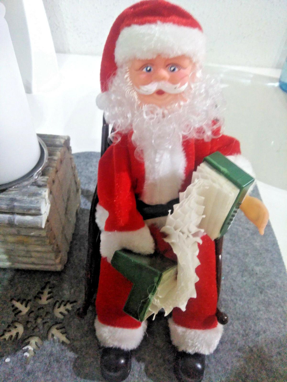 Beleuchteter Schlitten Weihnachtsdeko.Weihnachtsmann Mit Musik Im Schaukelstuhl Weihnachtsdekoration Weihnachten