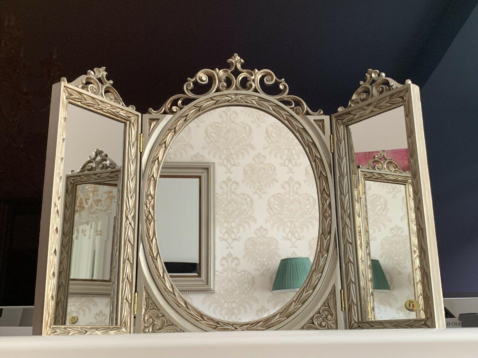 Badezimmerspiegel Rechteckig.Wandspiegel Antik Silber Oval Rechteckig Badspiegel Barock 60x46