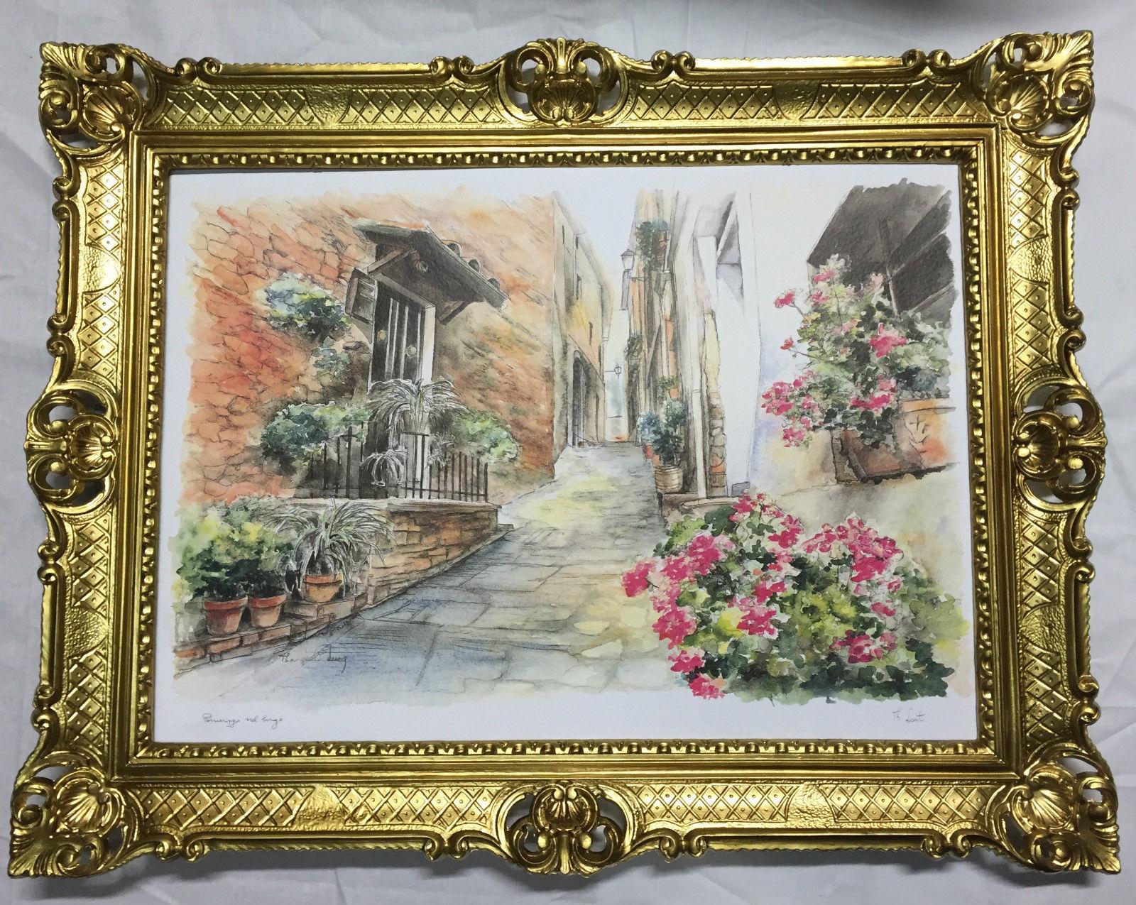 Gerahmte Gemälde Haus in Italien Landschaft 90X70 Sizilien Bild mit ...