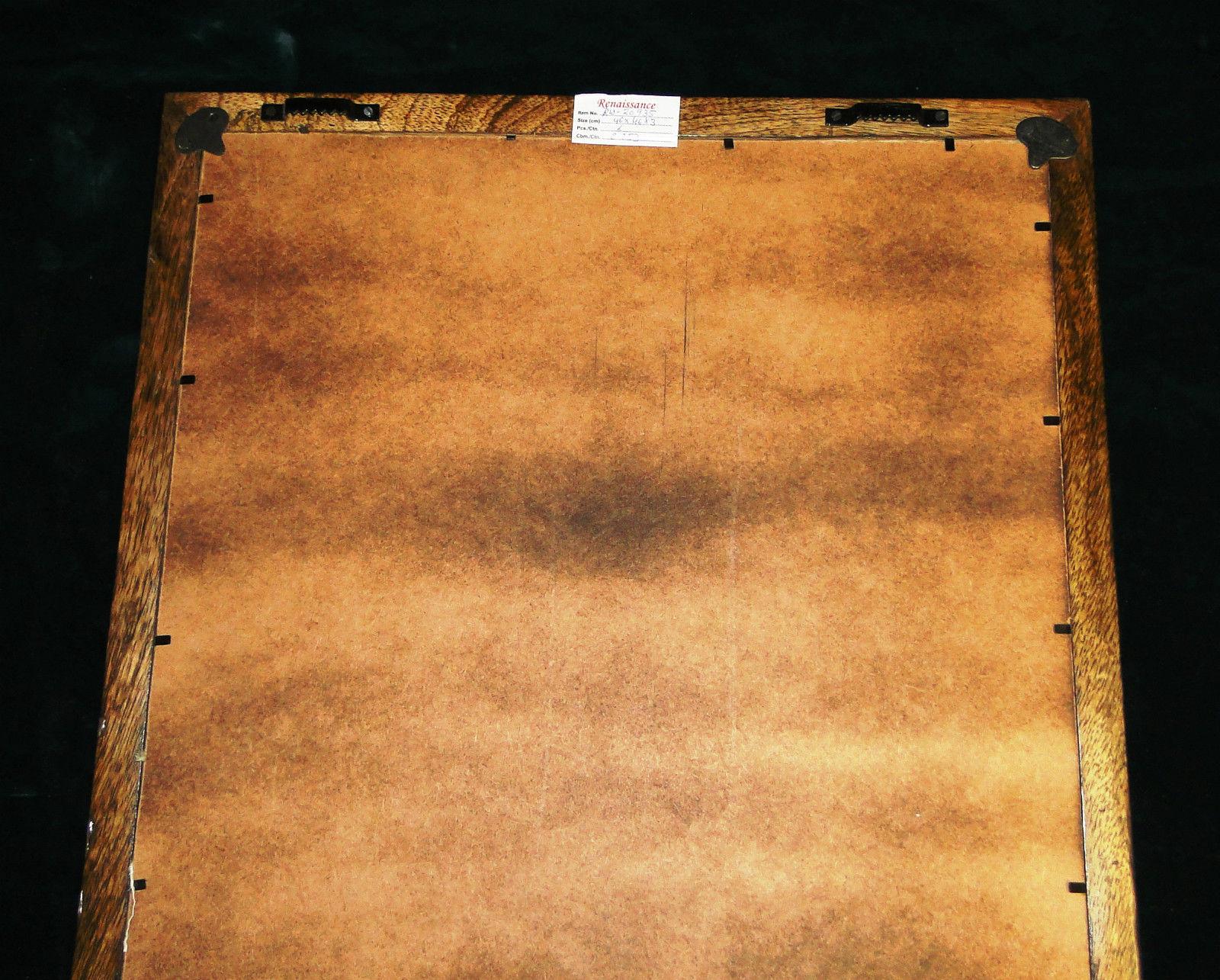 ... Wanddeko Holz Wandekoration Holz Mango 46x46x3 Wandbehang Handarbeit  Antik 5