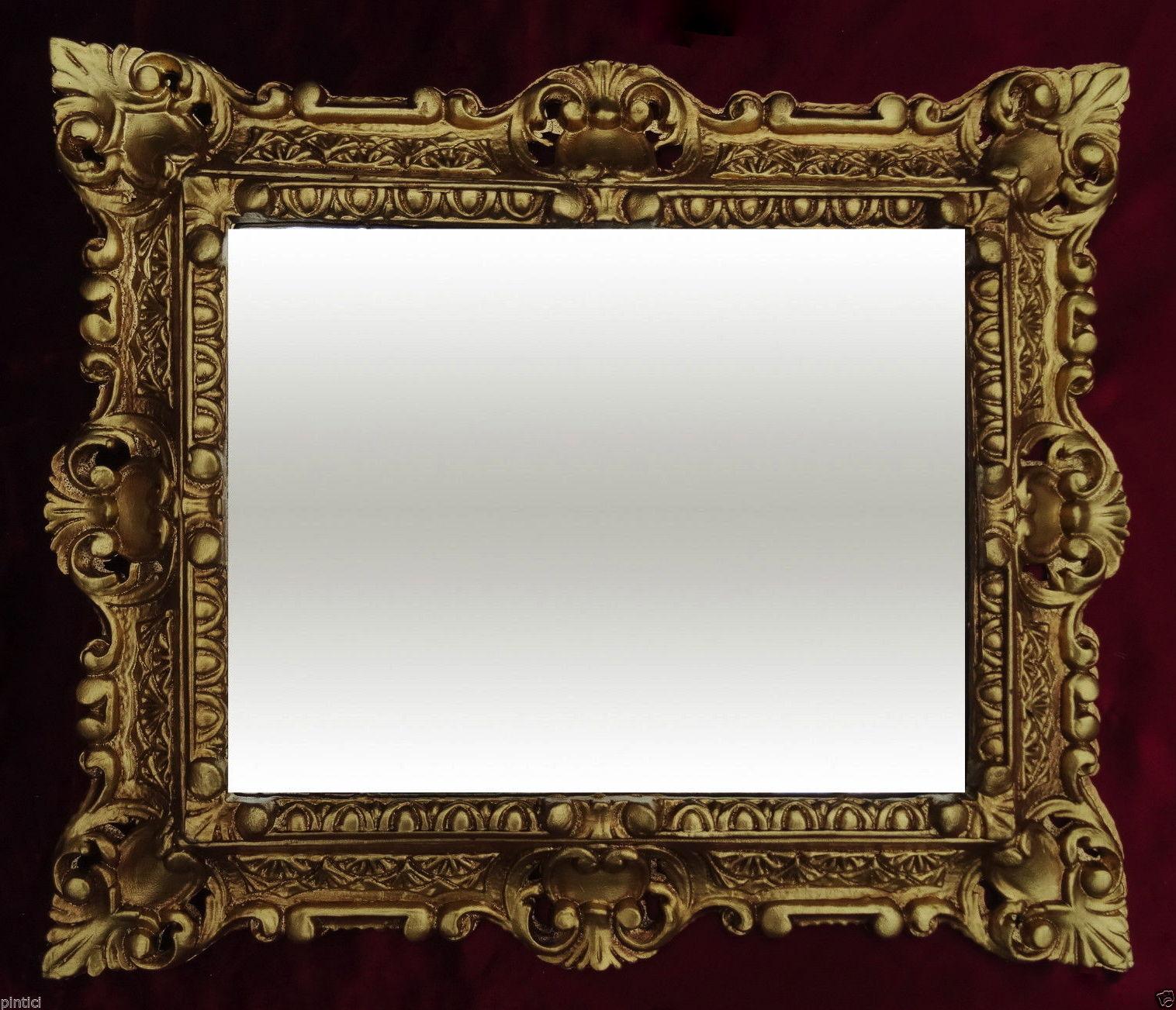 Bilderrahmen Antik Gold Rechteckig 45x37 Fotorahmen Gemälderahmen ...