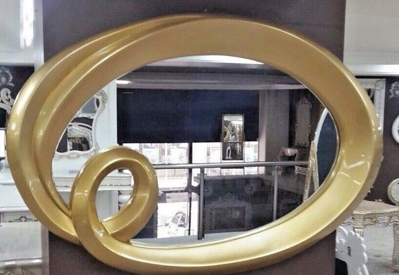 flurspiegel gro gold antik 125x95 cm wandspiegel oval barock modern badspiegel kaufen bei. Black Bedroom Furniture Sets. Home Design Ideas