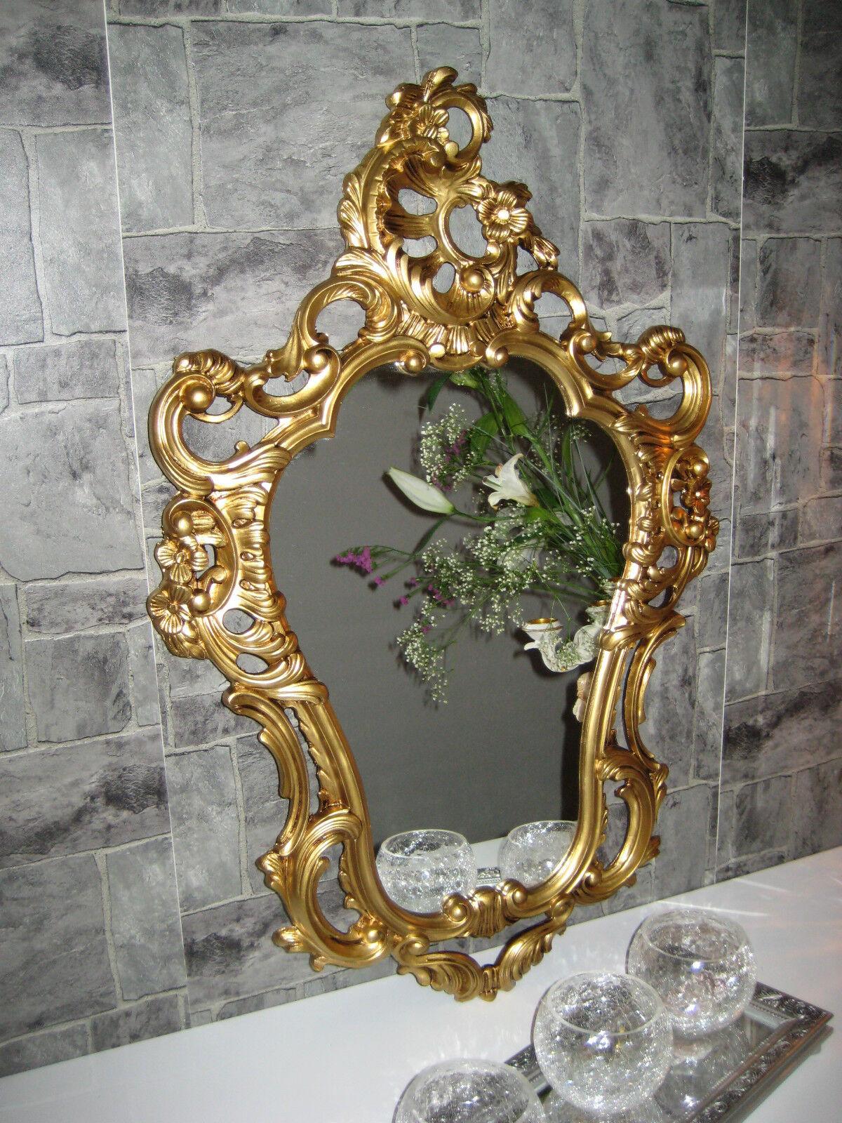 Wandspiegel Oval Vintage BADSpiegel Antik Gold 50X76 BAROCK ...