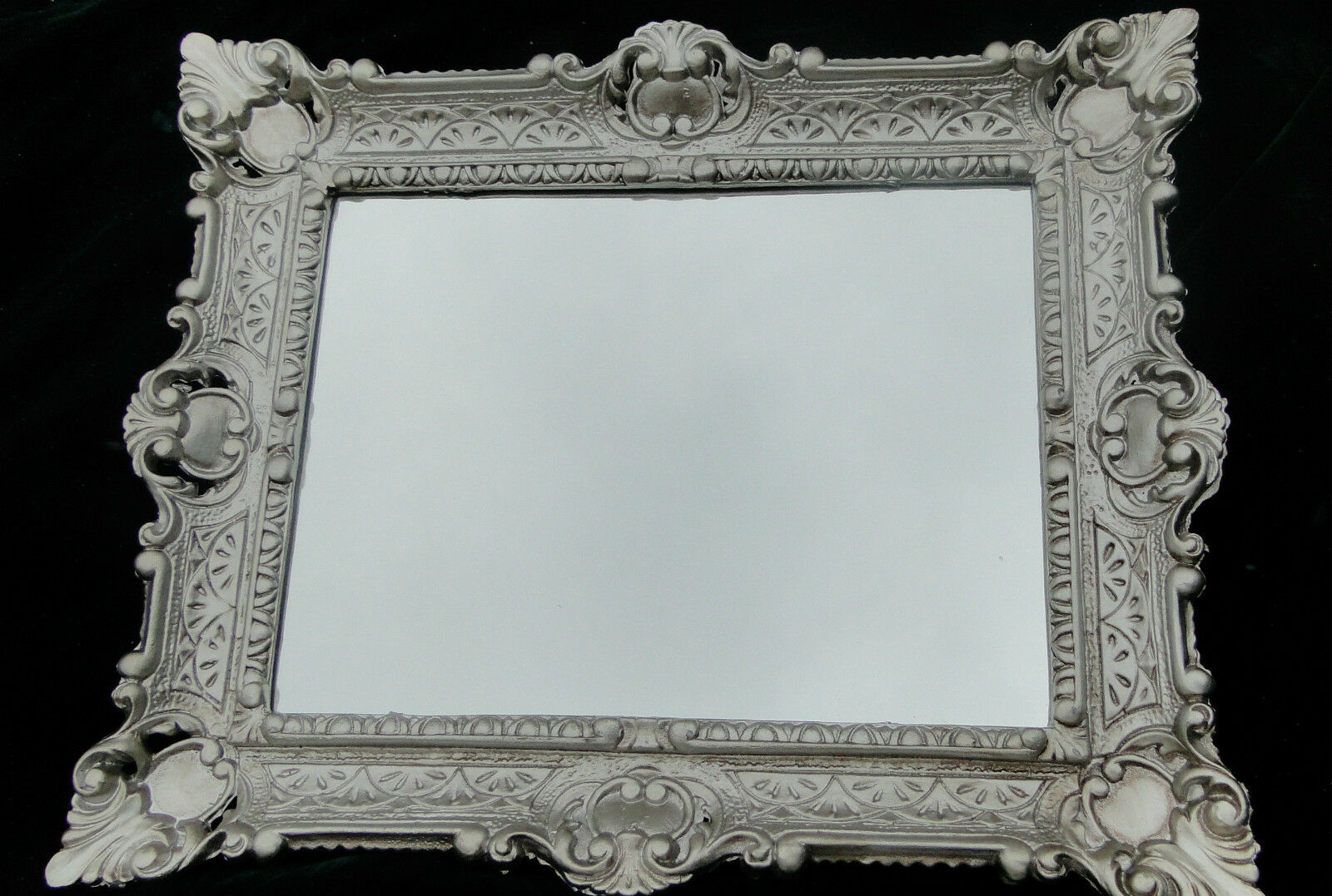 Wandspiegel Barock Spiegel Antik Silber Wanddeko Badspiegel 46x56