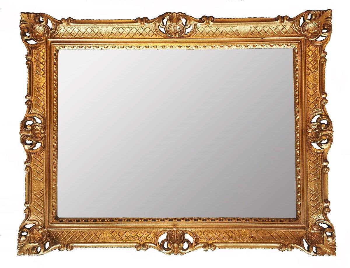 Badezimmerspiegel Rechteckig.Xl Wandspiegel Antik Badspiegel Barock Spiegel Rechteckig 90x70 Gold