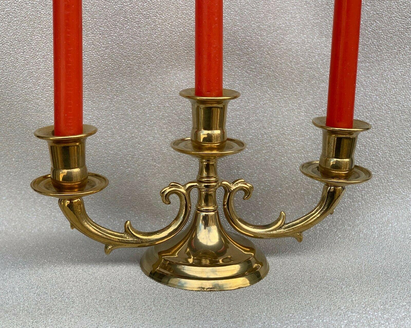 Kerzenleuchter Kerzenhalter Kerzenständer Tischleuchter Messing Antik Barock