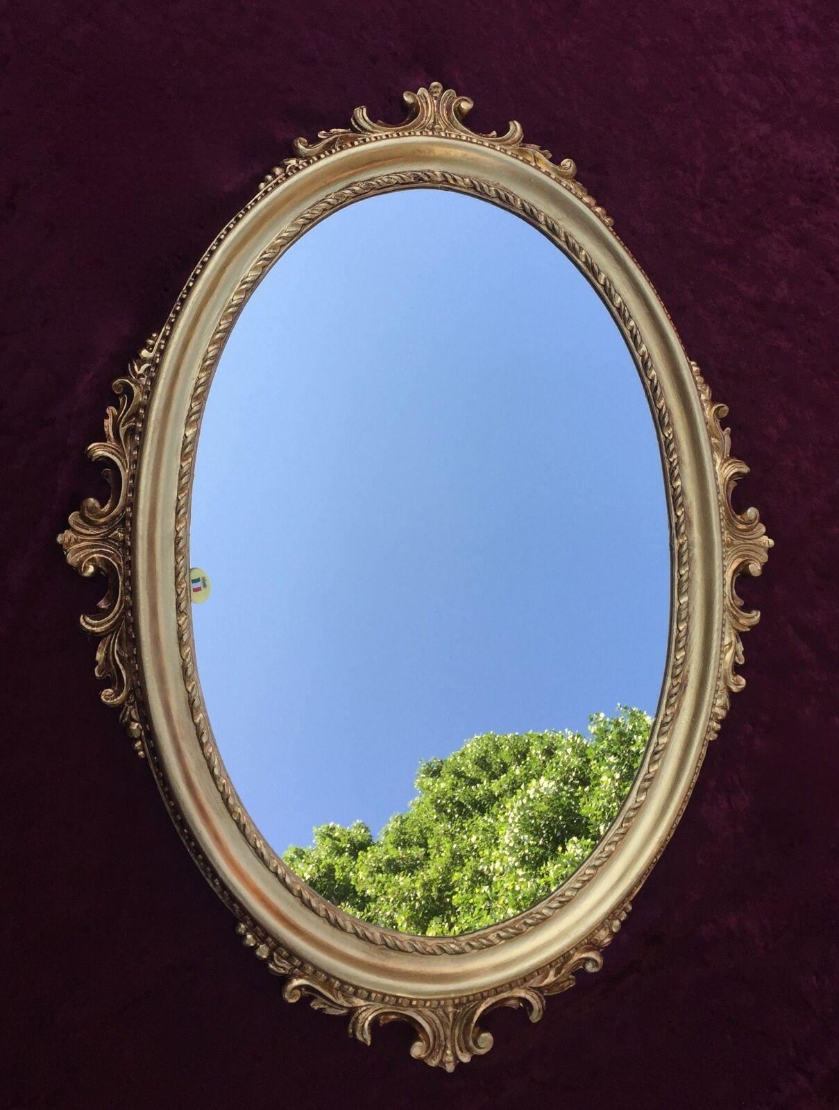 wandspiegel gold oval barock spiegel antik bad spiegel 62x48cm flurspiegel c12 kaufen bei. Black Bedroom Furniture Sets. Home Design Ideas