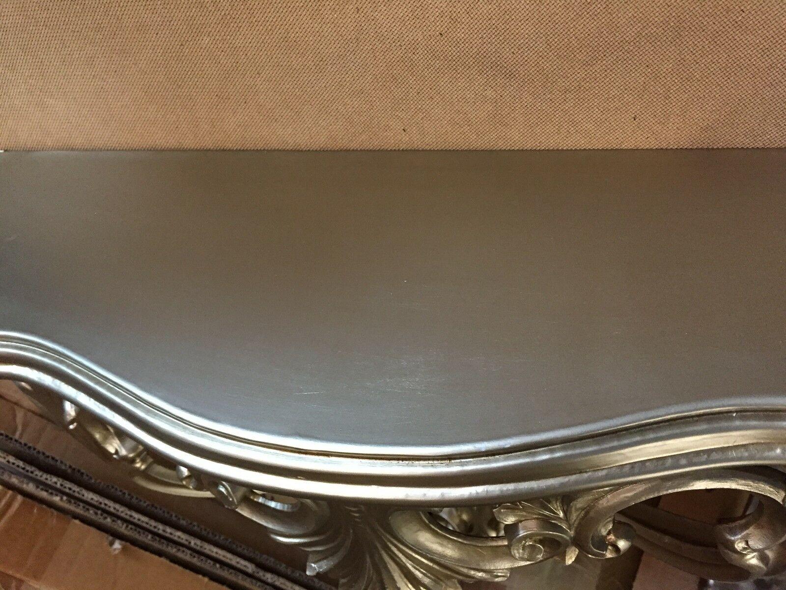 Wandkonsole Antik silber Sonderpreis Konsole 56x45x18 Wandspiegel cp60 Regal