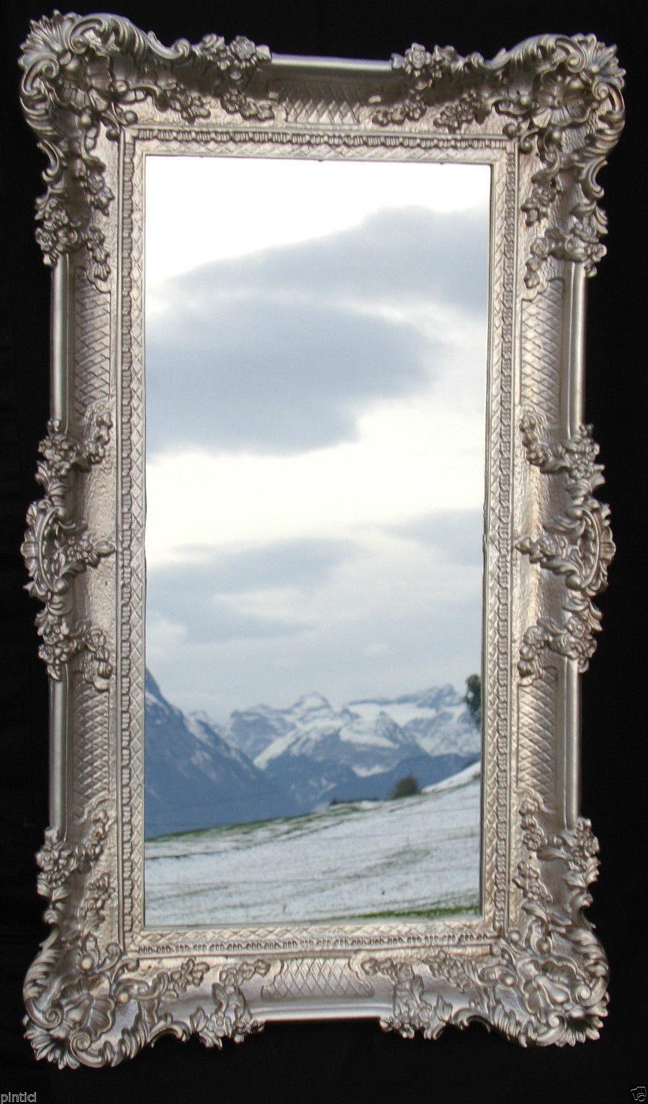 ... Wandspiegel Badspiegel Barock SILBERANTIK Spiegel Wand DEKO 97x57 Groß 2