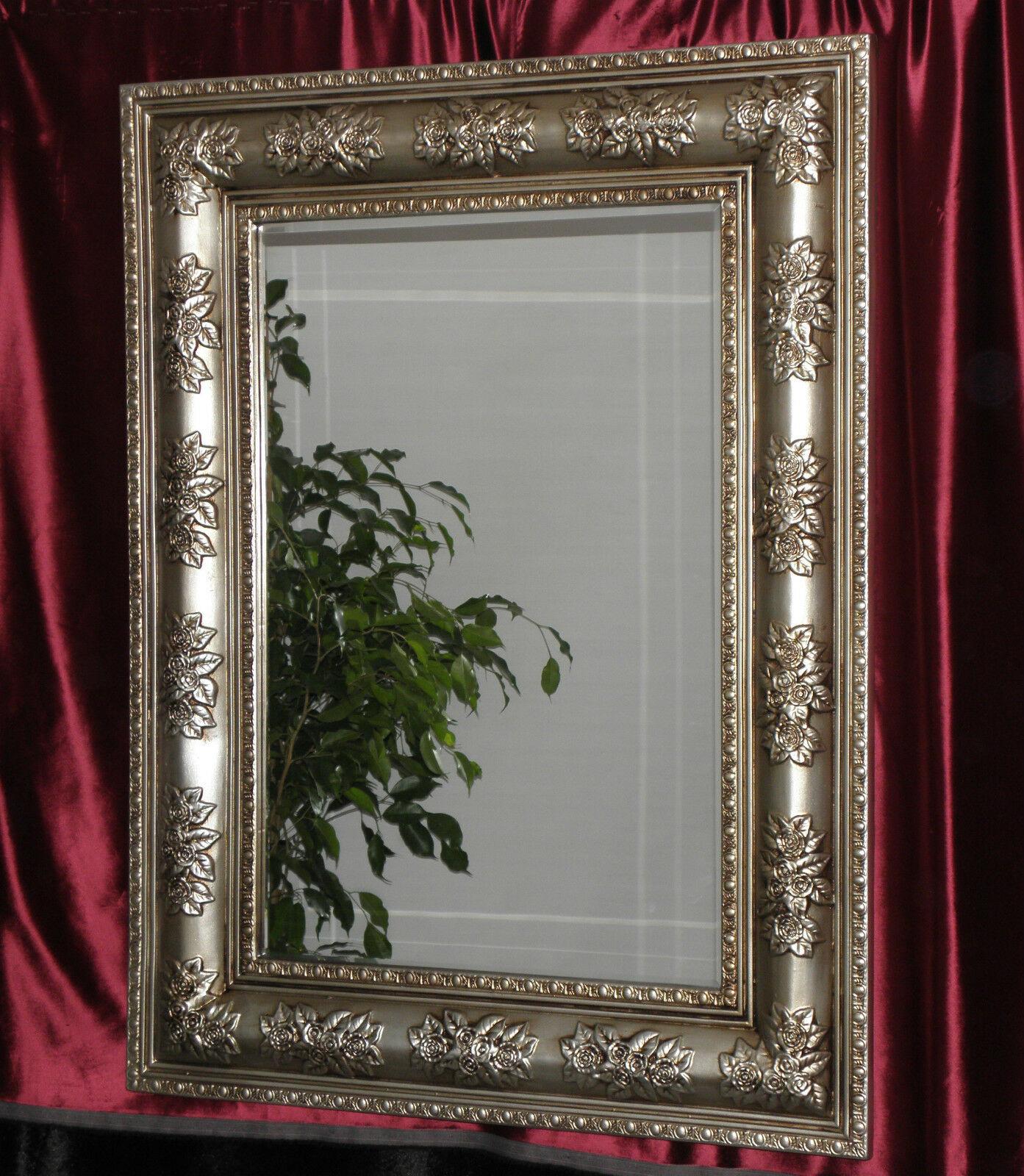 Wandspiegel Antik Silber Modern Flurspiegel Friseurspiegel 122x92