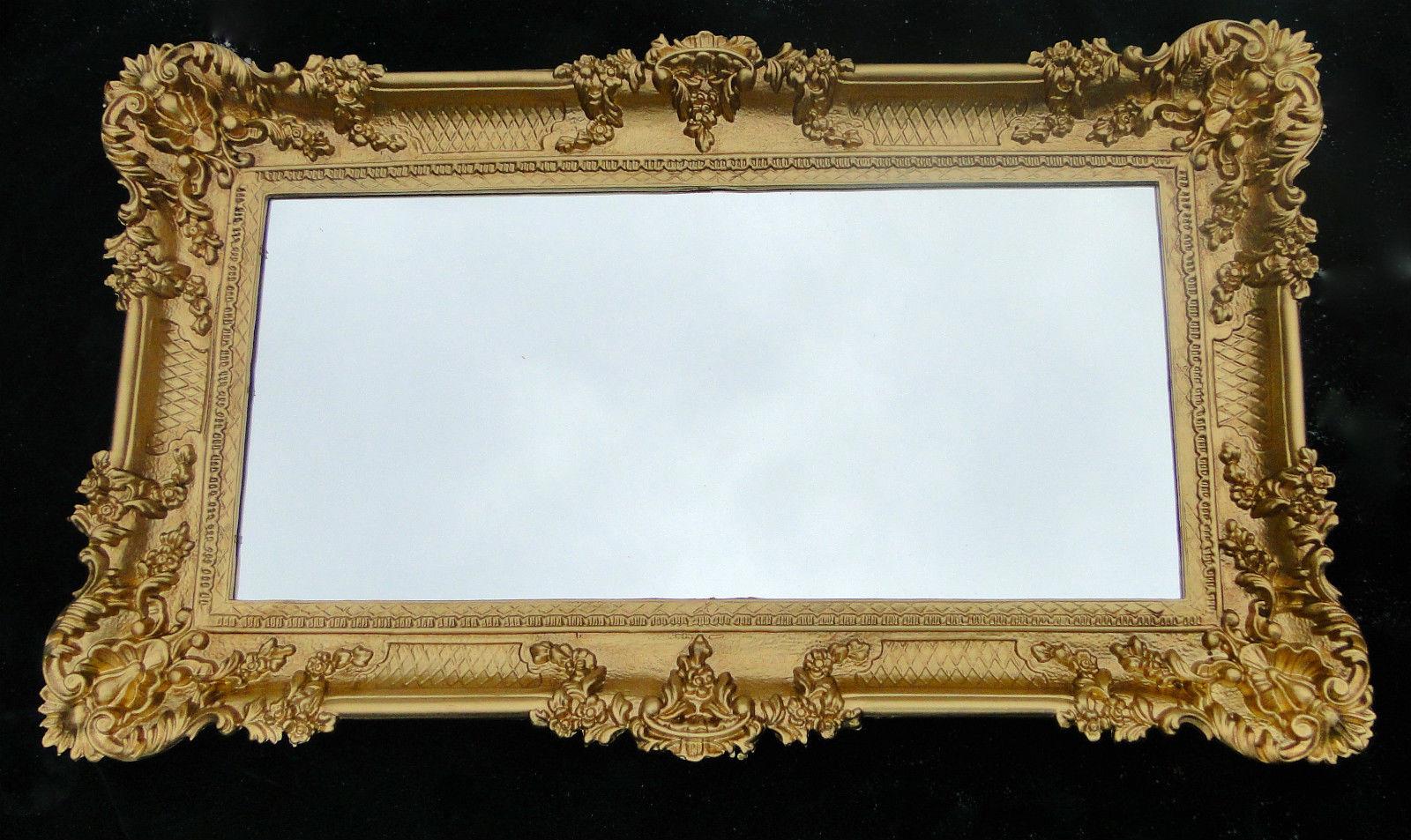Wandspiegel Barock Gold Spiegel Antik 96x57 Badspiegel groß ...