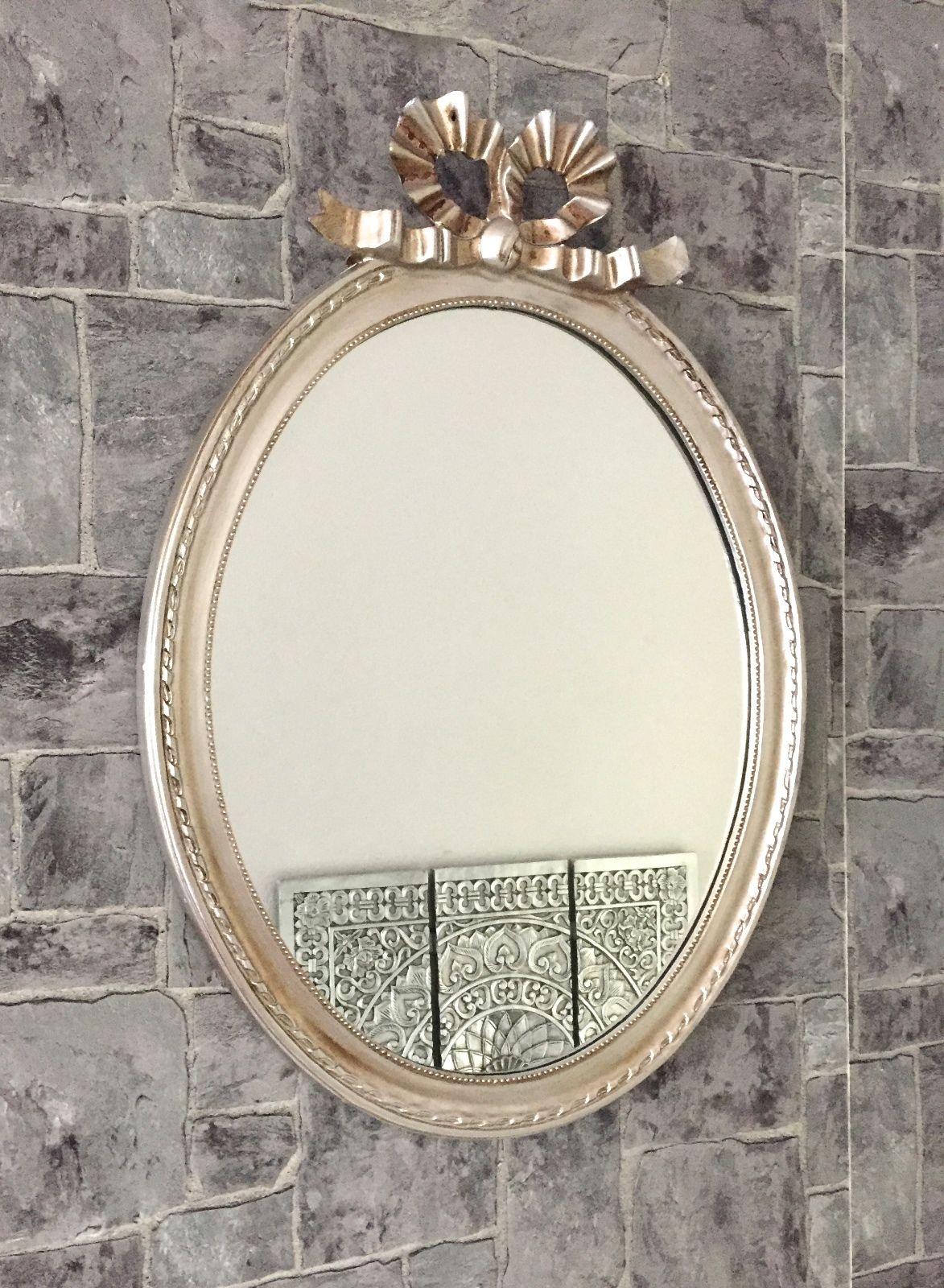 Wandspiegel Oval Gold Silber Schwarz Weiß Gold 58x42 cm Spiegel ...