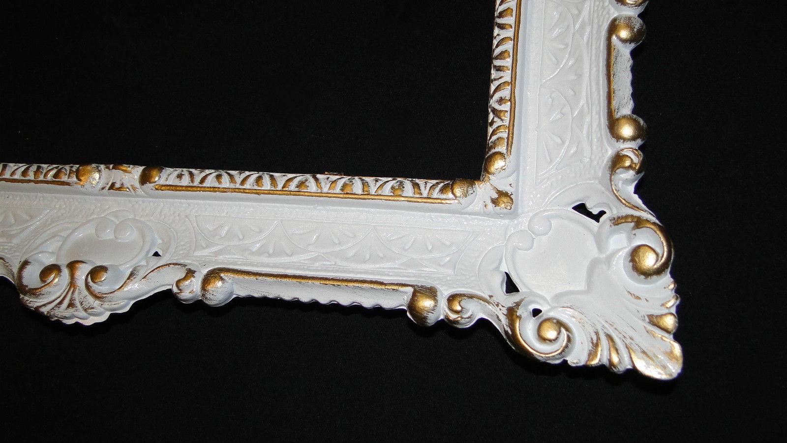 Bilderrahmen Barock Weiß Gold 56x46 Fotorahmen Spiegelrahmen ...