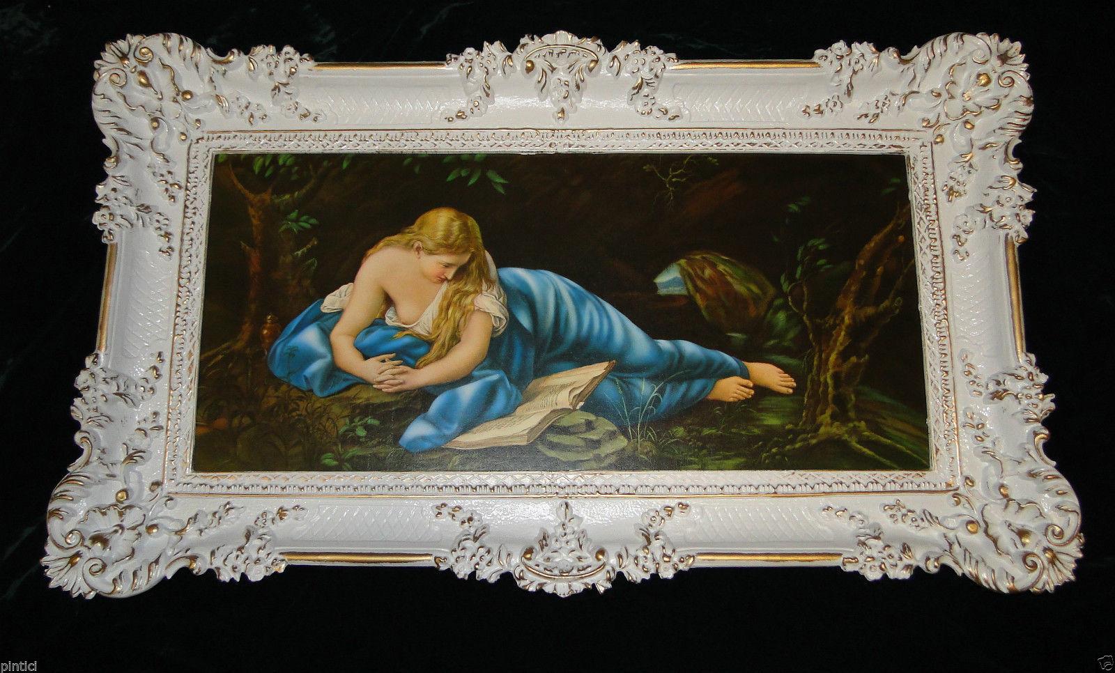 Gemälde Rahmen Bilderrahmen Antik Maria Magdalena Maria 97x58 Bild ...