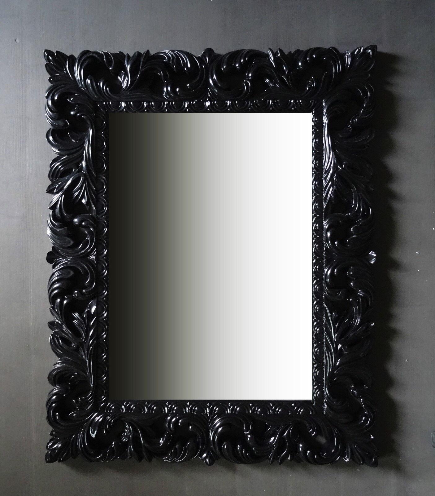 wandspiegel schwarz ornament 100x80 standspiegel spiegel. Black Bedroom Furniture Sets. Home Design Ideas