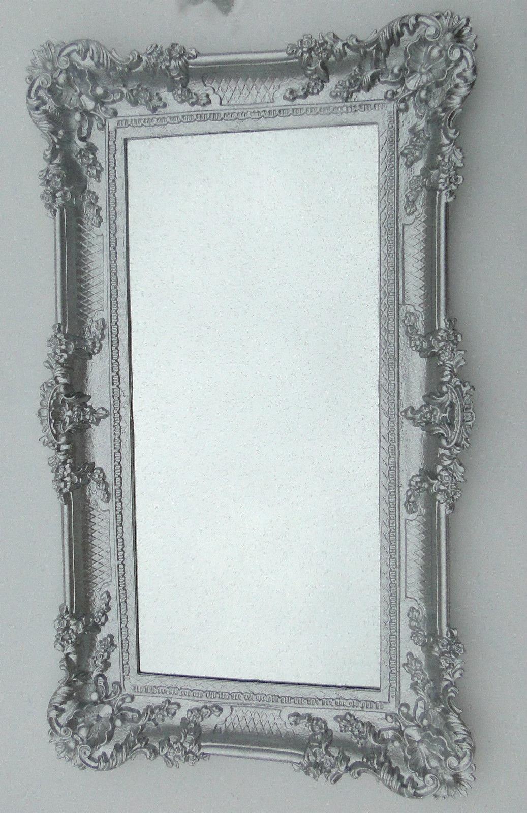 wandspiegel silber barock flur spiegel antik 97x57 badezimmerspiegel nr74 kaufen bei pintici. Black Bedroom Furniture Sets. Home Design Ideas