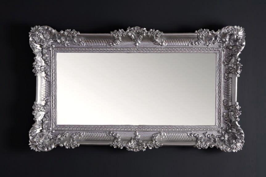 wandspiegel spiegel barock gro er silber hochglanz 97x57 antik bilderrahmen kaufen bei pintici. Black Bedroom Furniture Sets. Home Design Ideas
