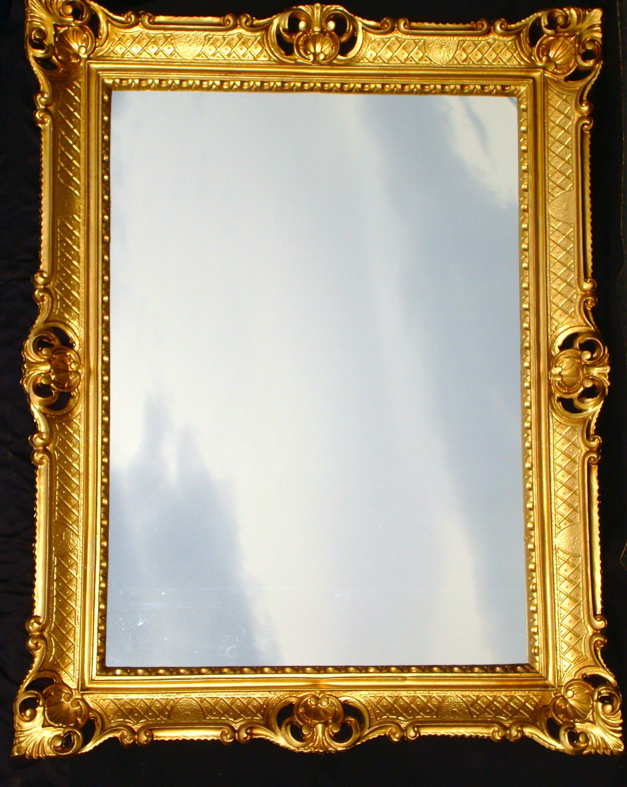 wandspiegel gold barock wandspiegel antik barock rokoko stil gold edel luxus prunk spiegel. Black Bedroom Furniture Sets. Home Design Ideas