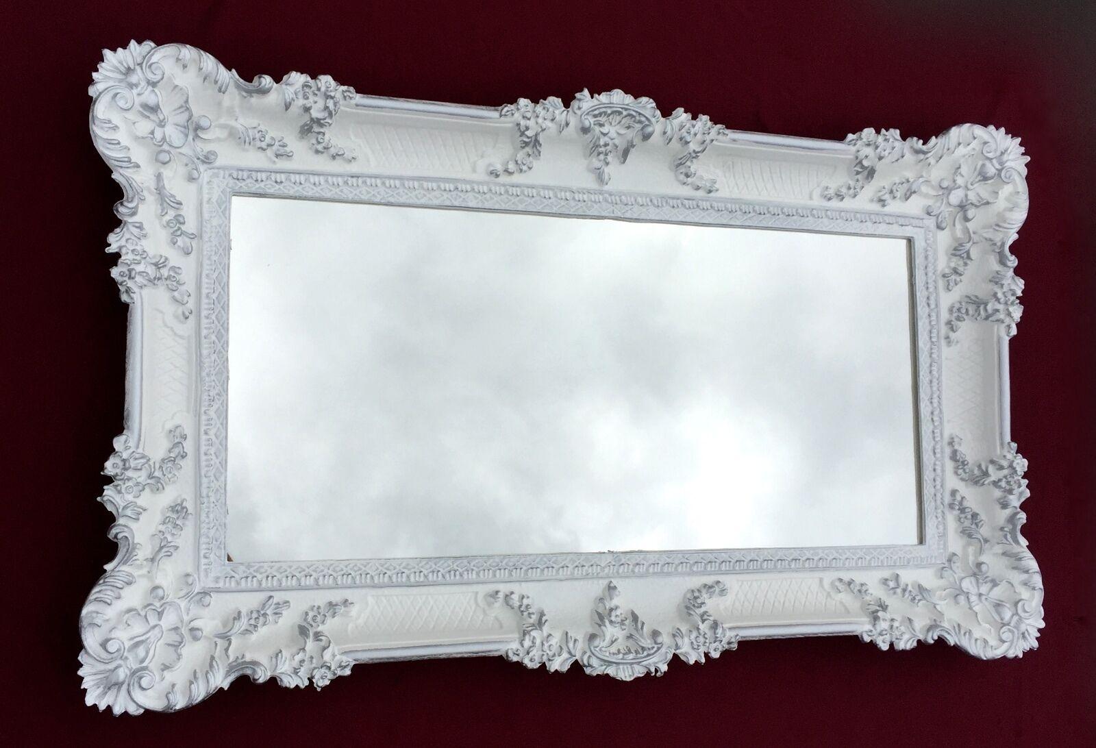 wandspiegel antik barock rechteckig 97x57 flurspiegel wei silber 103074 spiegel kaufen bei. Black Bedroom Furniture Sets. Home Design Ideas