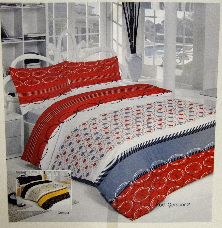 Bettwäsche Garnituren 4 Tlg Baumwolle 200x220 Bettbezug 2 X