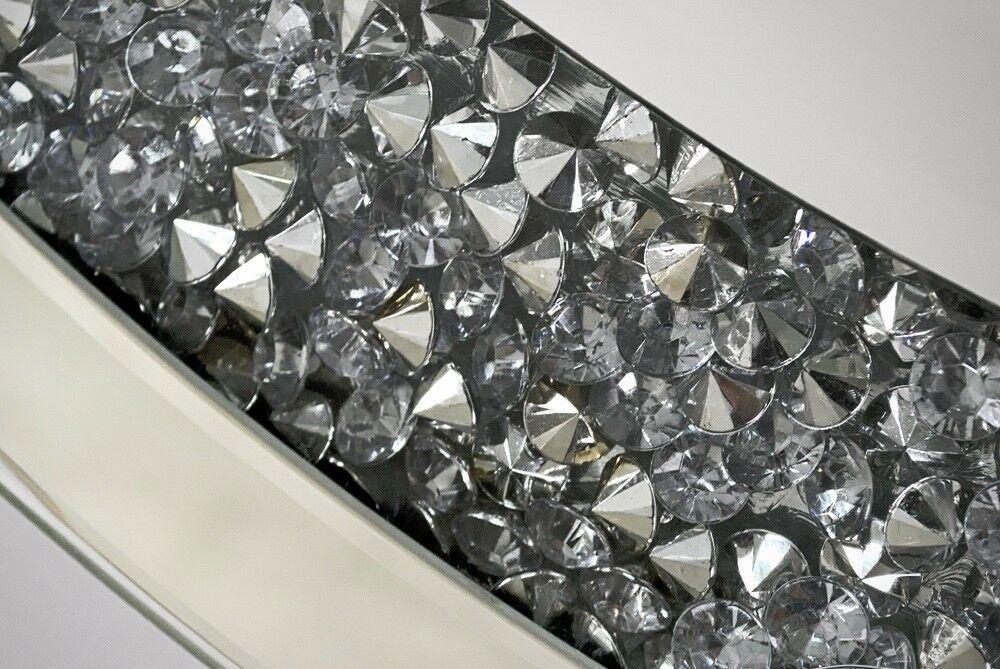 wandspiegel glas mit strassstein rund 90cm modern friseurspiegel ohne rahmen kaufen bei. Black Bedroom Furniture Sets. Home Design Ideas