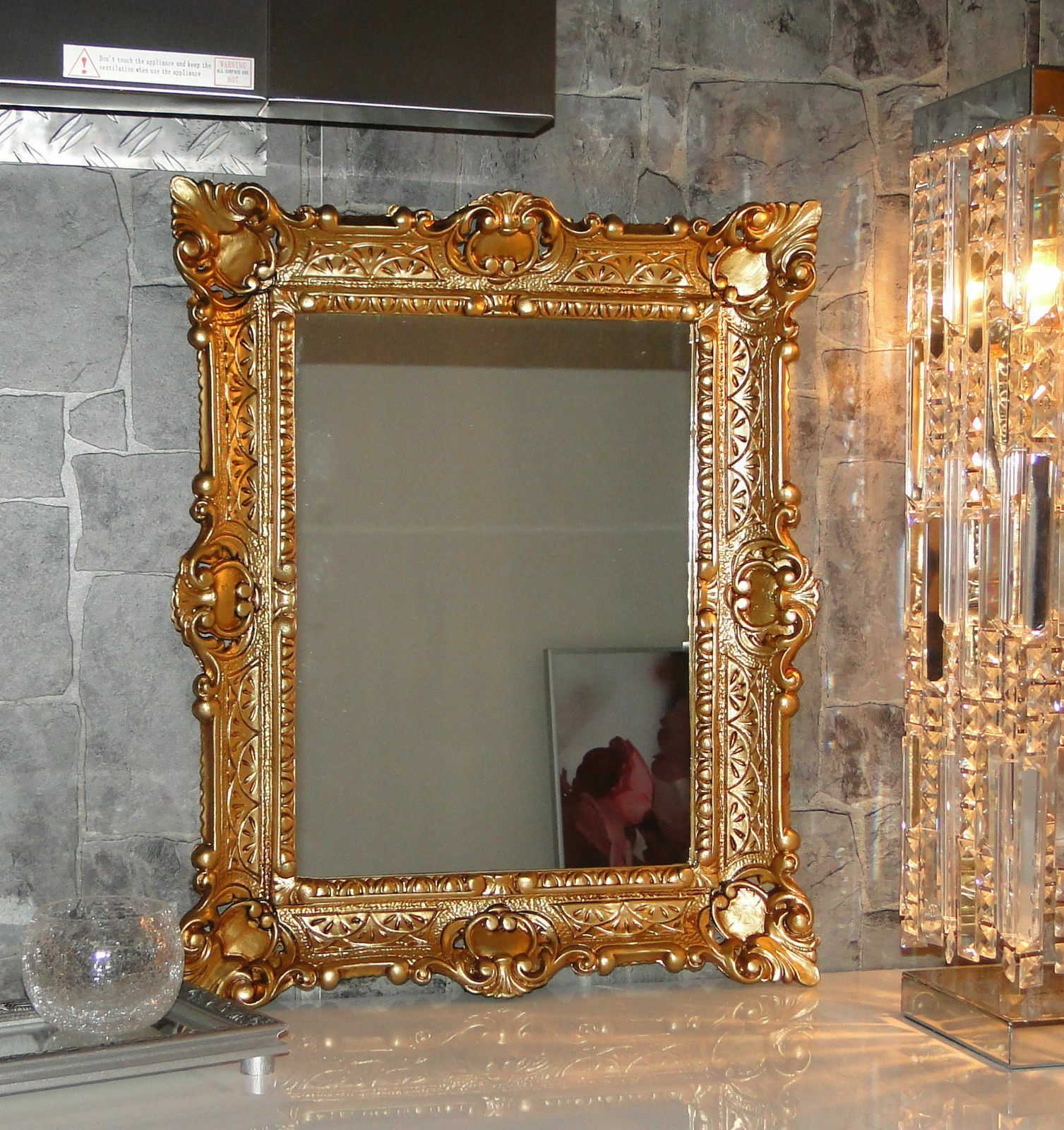 Bilderrahmen Gold barock 56x46 Fotorahmen Antik Rahmen 30x40 mit ...