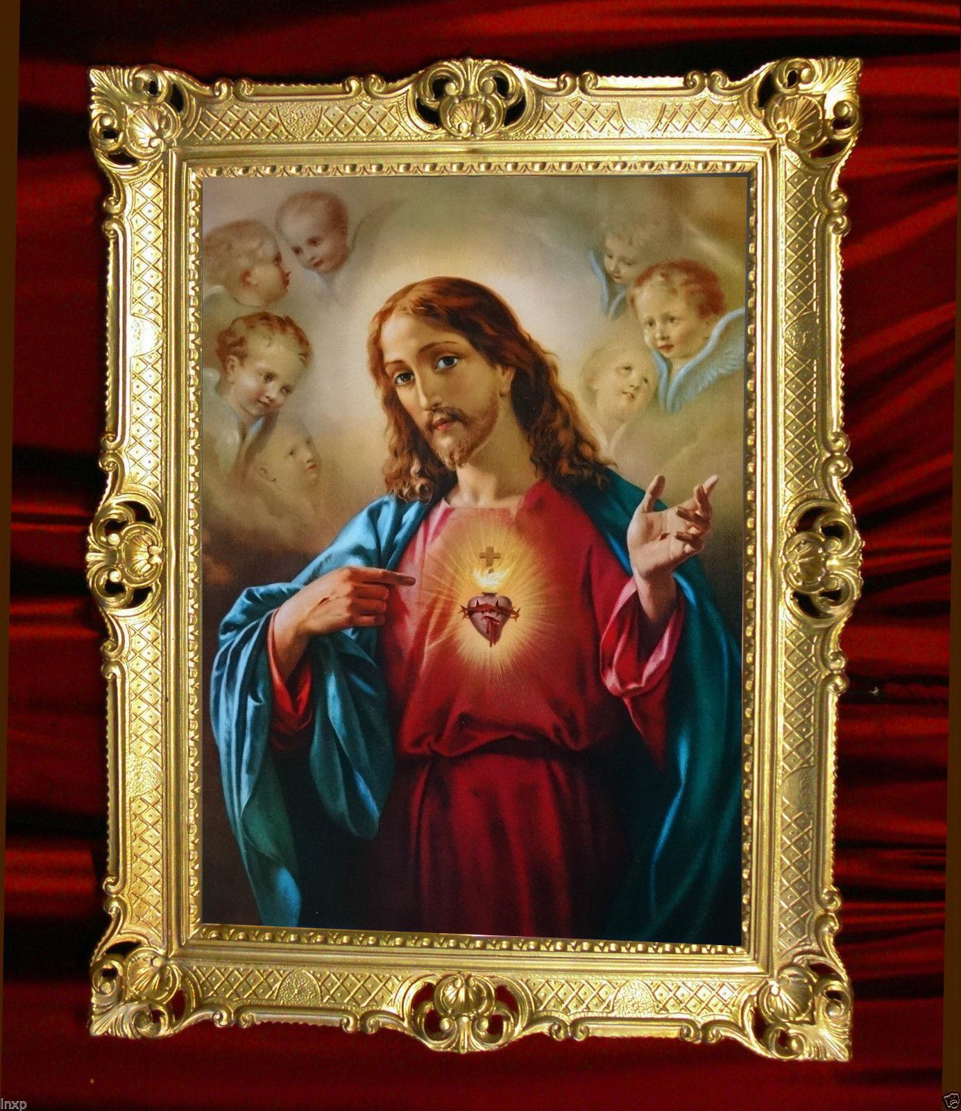 Bilder mit Rahmen jesus Christus Gerahmte Gemälde Bilder 90x70 ...