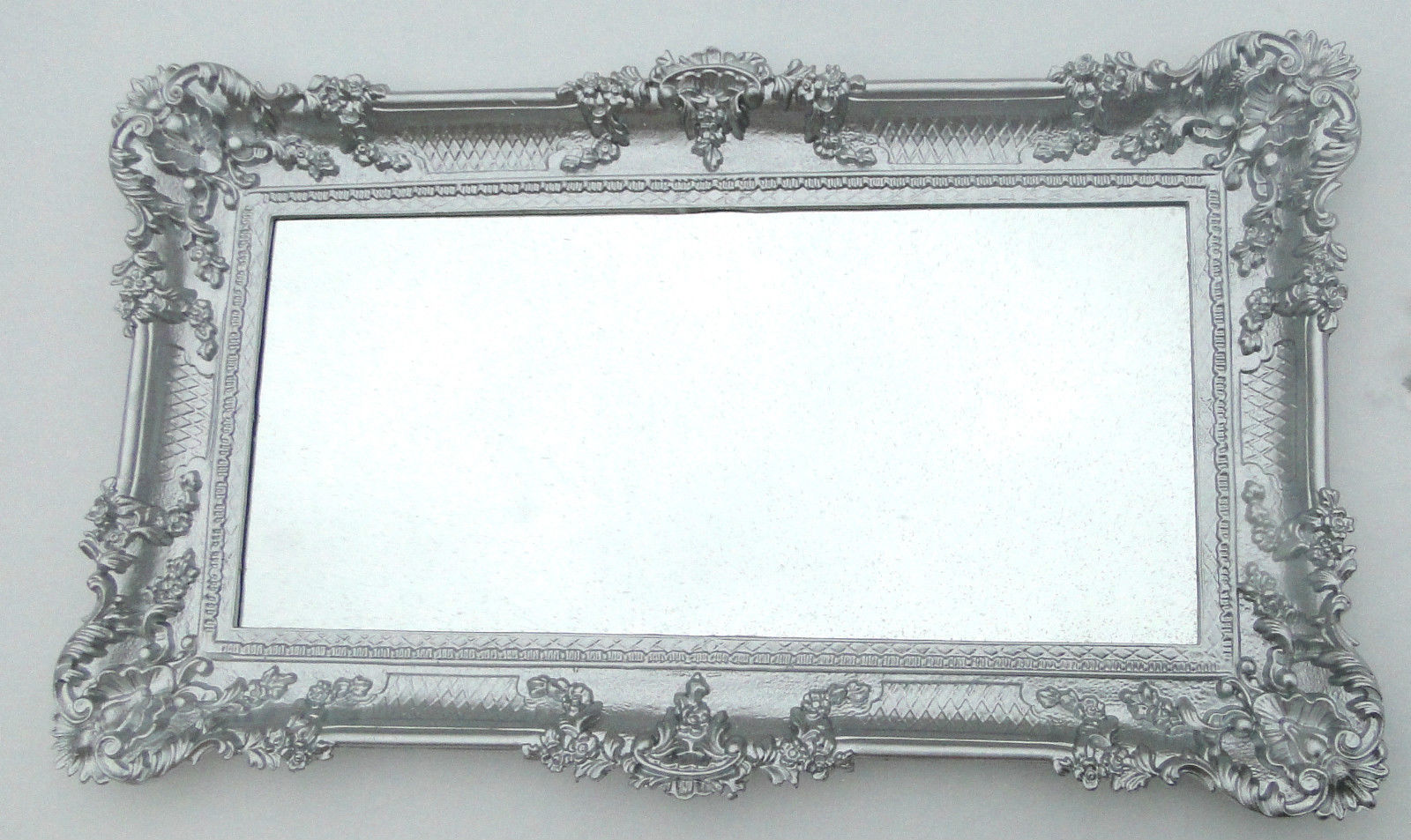 wandspiegel silber barock flur spiegel antik 97x57. Black Bedroom Furniture Sets. Home Design Ideas