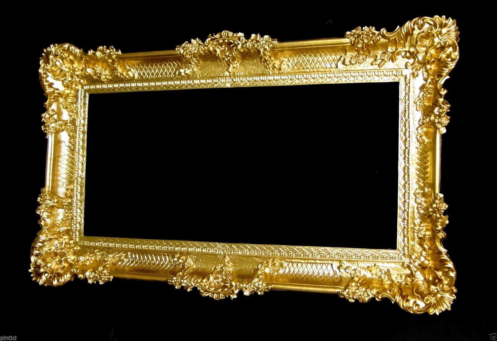 Bilderrahmen gold Barock antik 96x57 Bilderrahmen Groß Fotorahmen ...