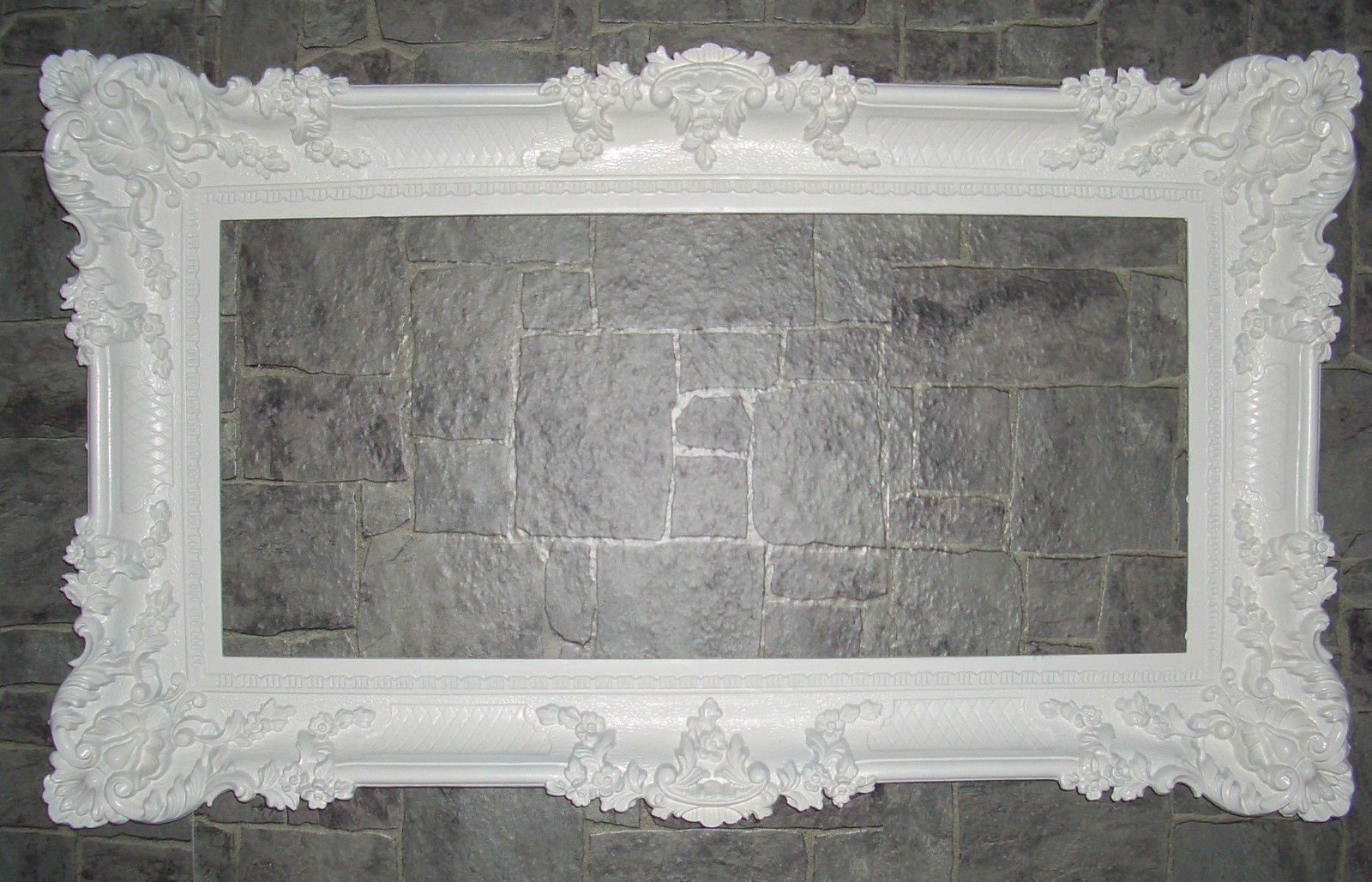 Bilderrahmen hochzeit 96x57 Spiegelrahmen Gemälde Weiß Barock Antik ...