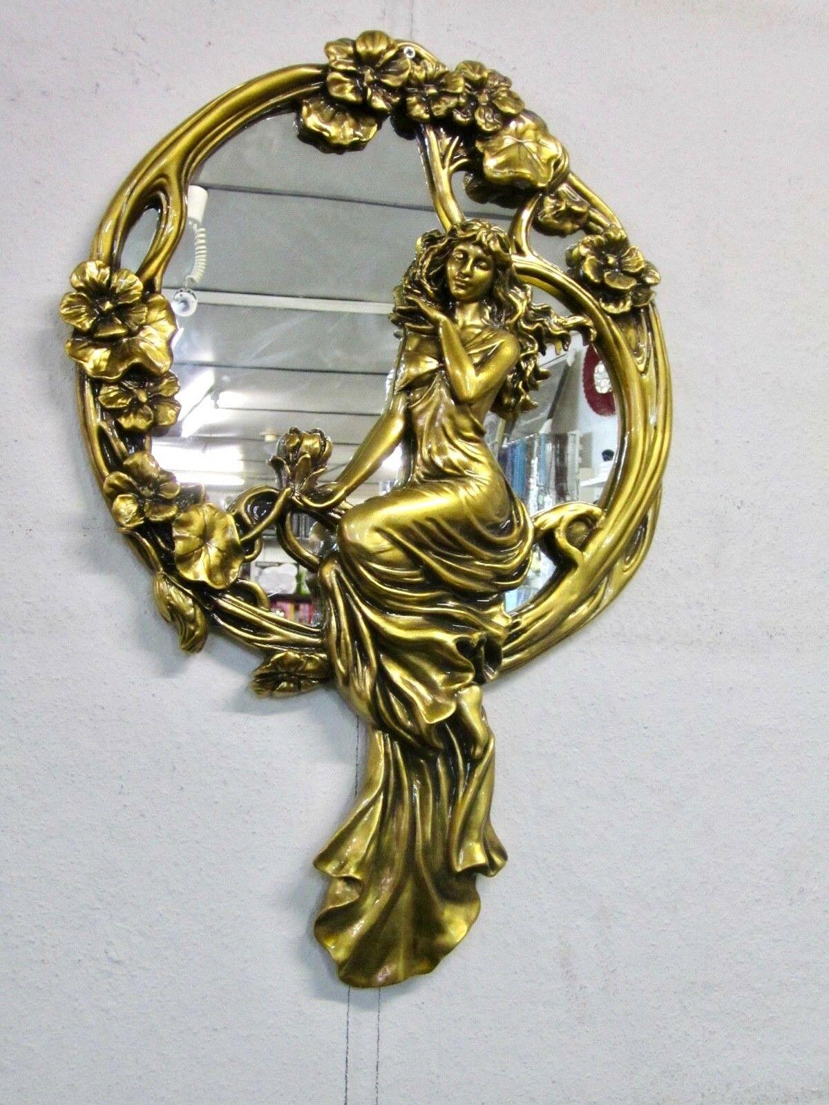 Wandspiegel Barock Gold 67x45cm Massiv Flurspiegel Antik Dekorative