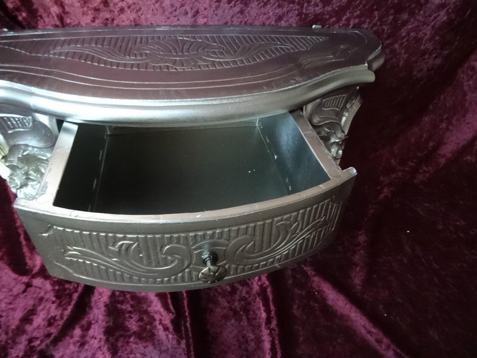 Wandkonsole//Spiegelkonsolen//Wandregal Alt Silber BAROCK B:50cm cp84 Antik Silber