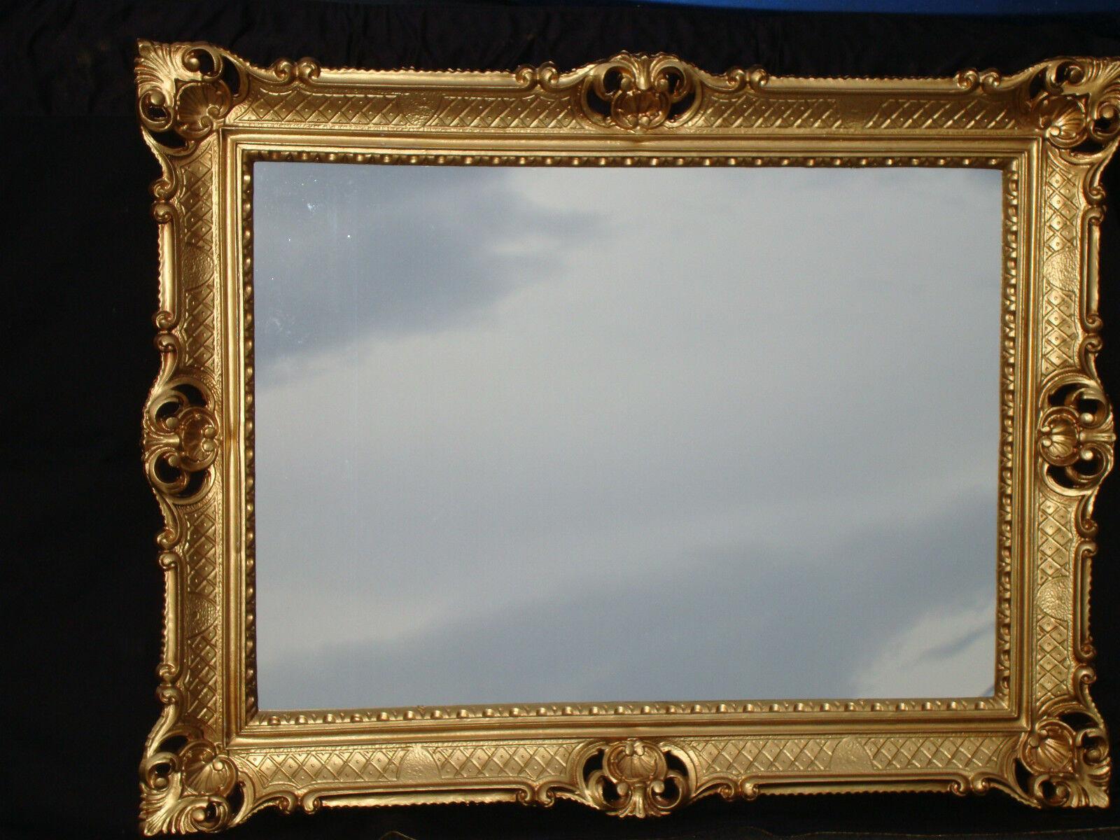 Bilderrahmen 90x70 cm Spiegelrahmen Antik Repro Barock GOLD Rechtkig ...
