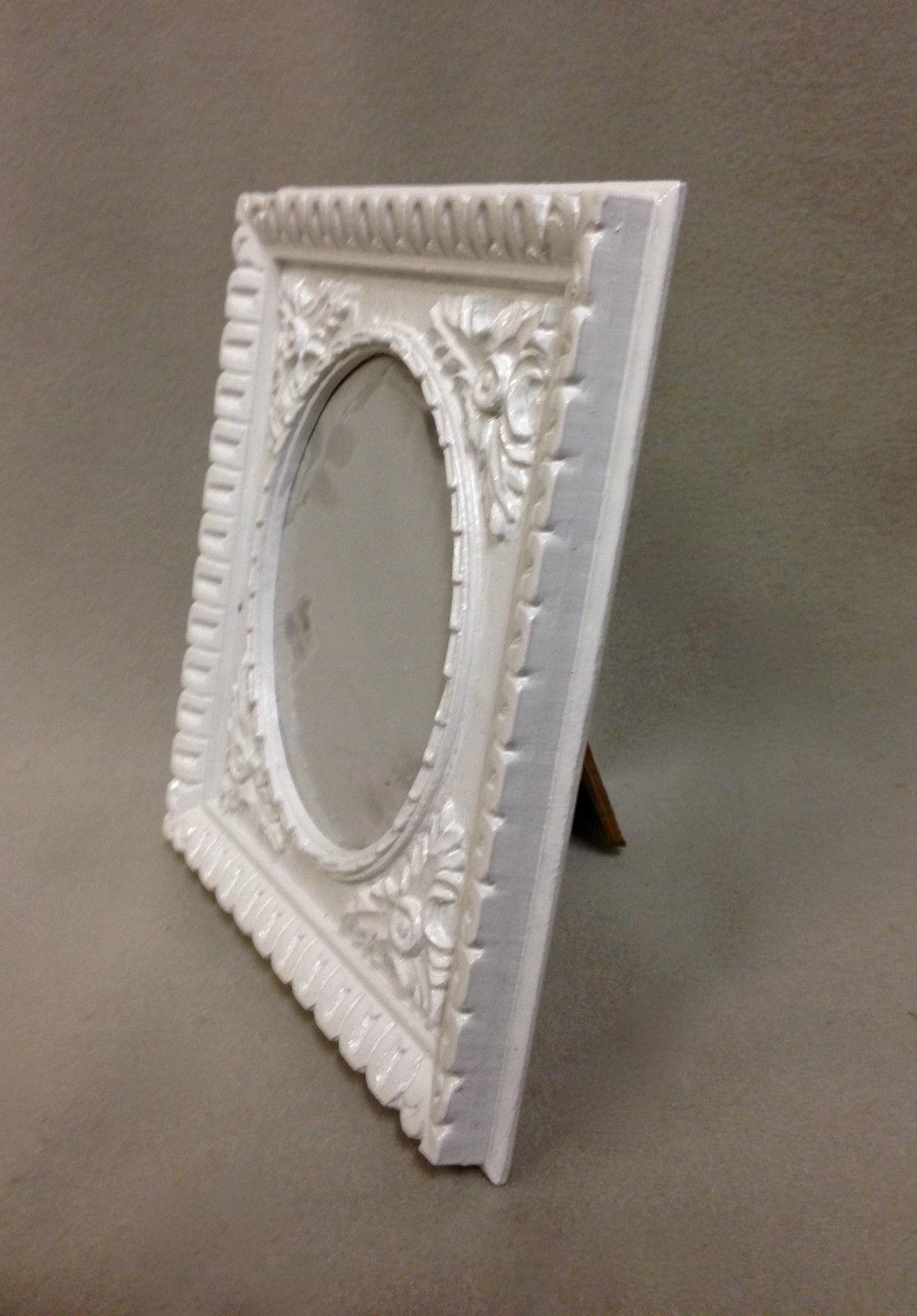 Bilderrahmen Weiß Oval Antik Barockrahmen Fotorahmen Rechteckig ...