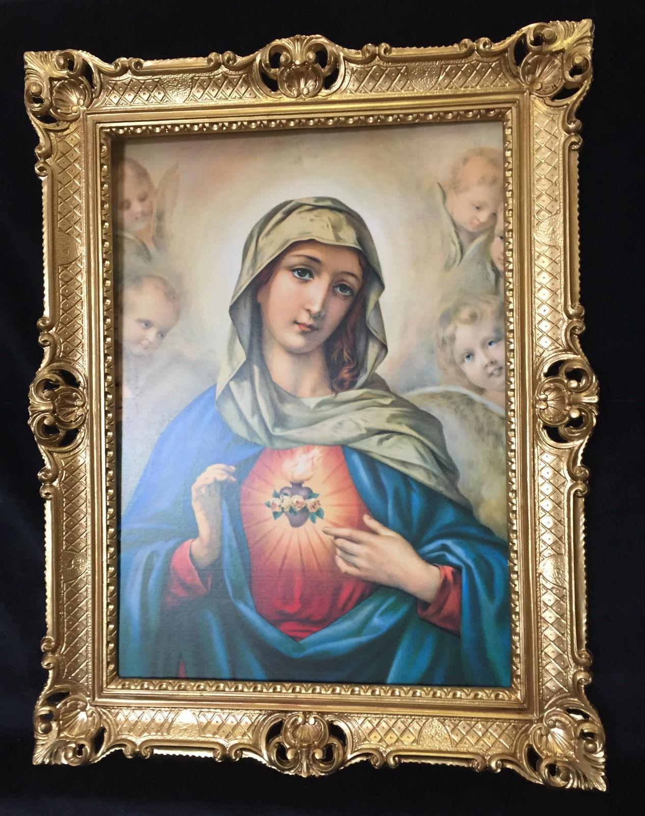 Maria Bild Religiöse/Heiligen Bild Madonna Gerahmte Gemaelde 70x90 ...