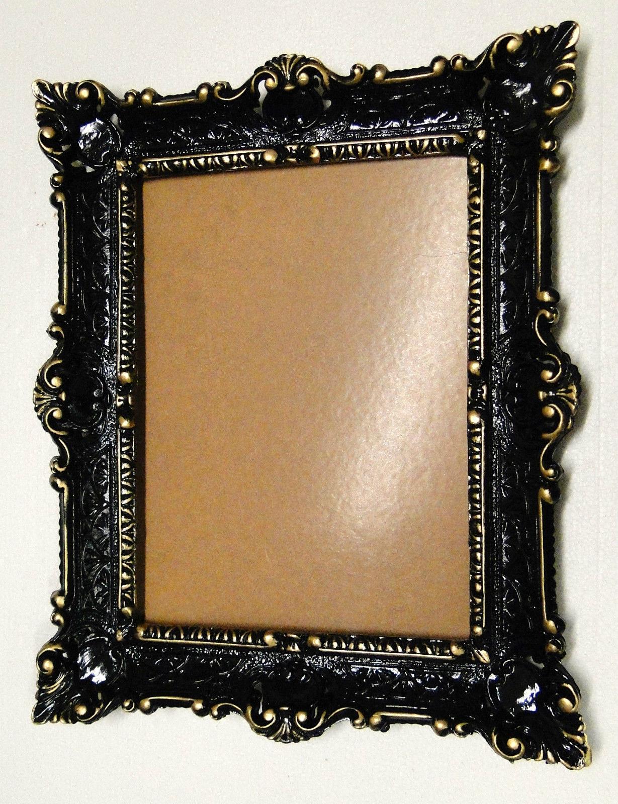 Bilderrahmen Barock Schwarz-Gold 56x46 Fotorahmen Spiegelrahmen ...