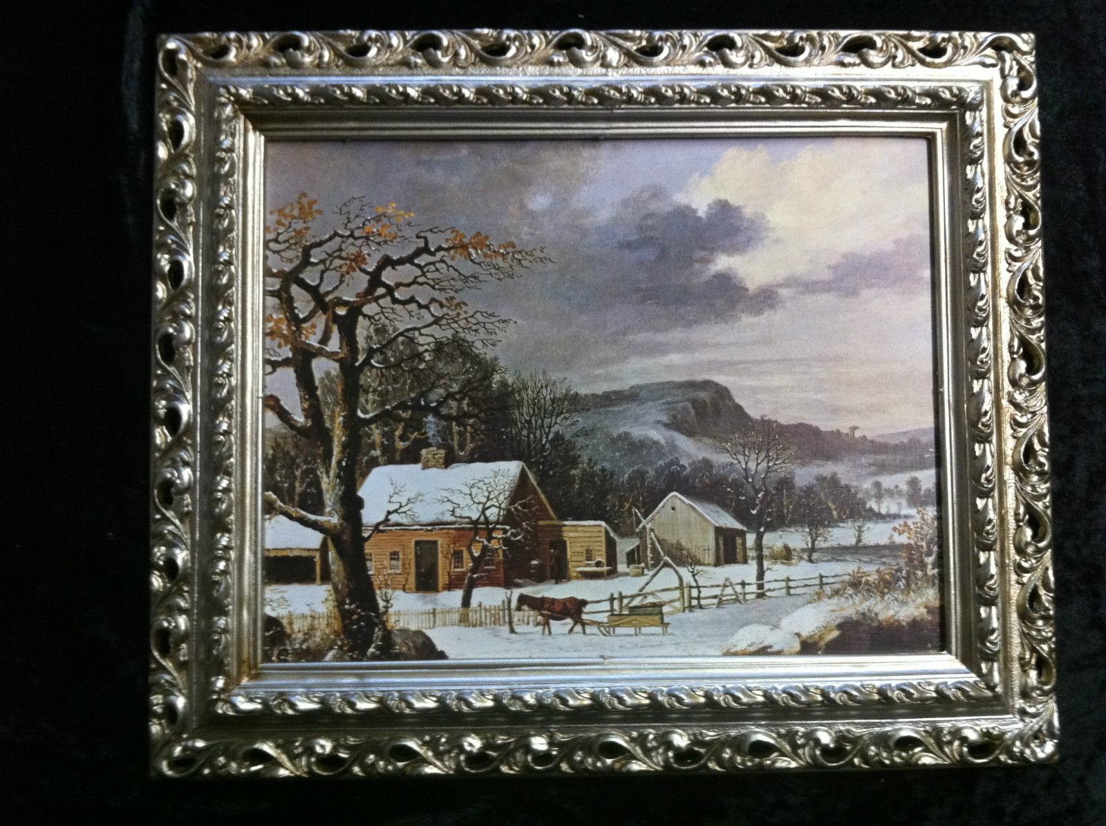 Gerahmte Gemälde Bilder Rahmen Landschaftsbilder Arabesco 43x36 ...