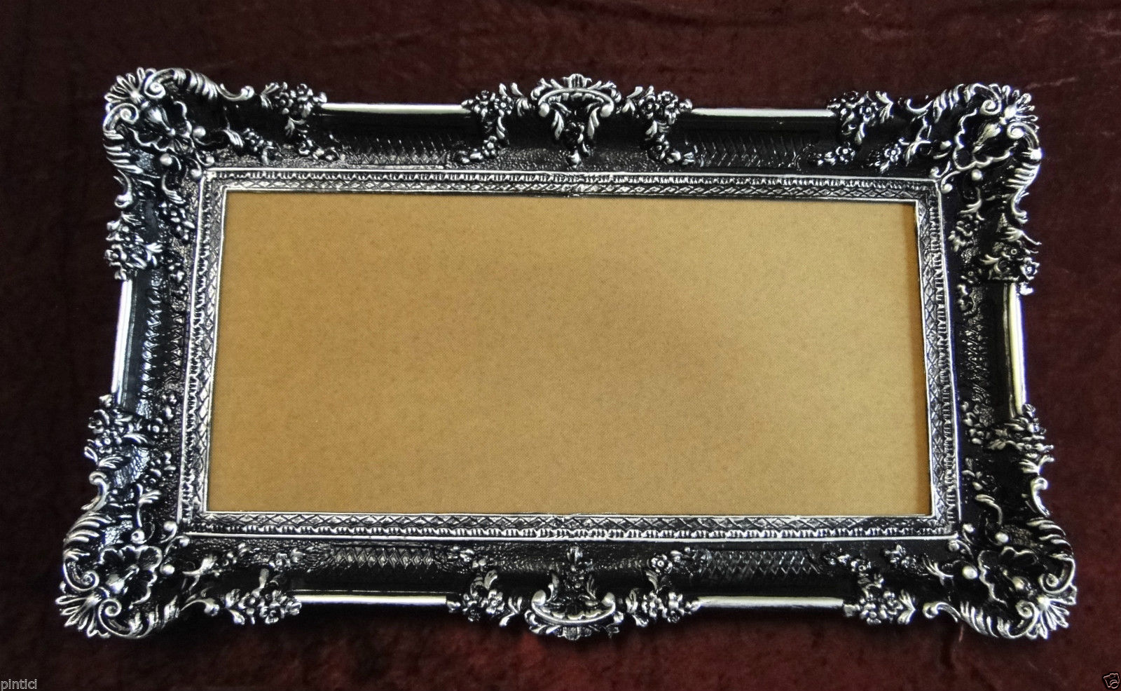 bilderrahmen jugendstil schwarz silber 96x57 spiegelrahmen antik gem lderahmen kaufen bei. Black Bedroom Furniture Sets. Home Design Ideas