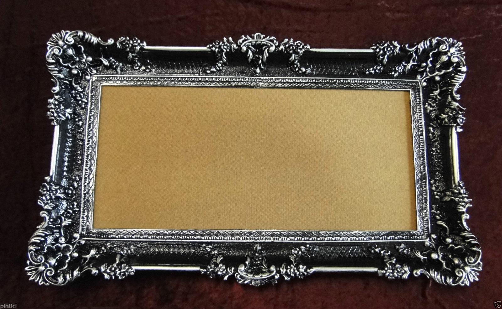 bilderrahmen schwarz silber barock 96x57 gem lde rahmen antik fotorahmen 3074 kaufen bei. Black Bedroom Furniture Sets. Home Design Ideas