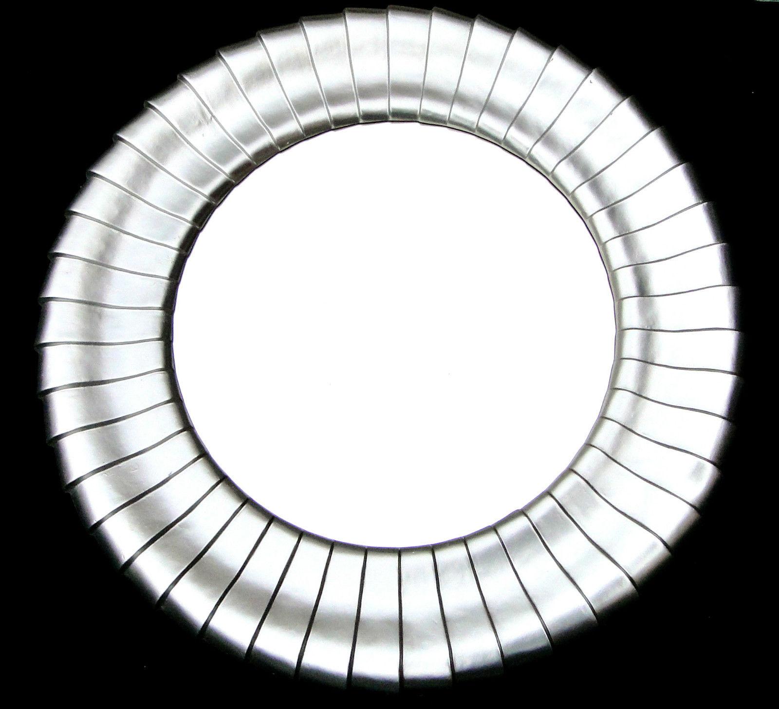 Runde Spiegel wandspiegel runde spiegel ø 79cm silber großer modern badspiegel